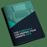 five essentials for keeping your website safe booklet mockup