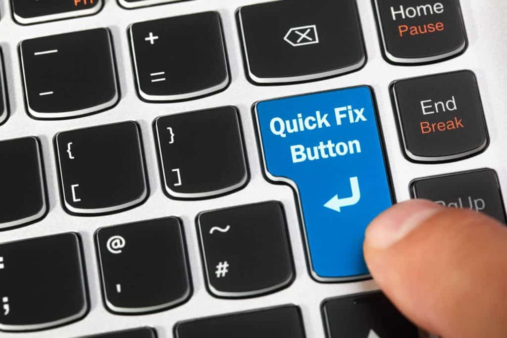 quick fix button