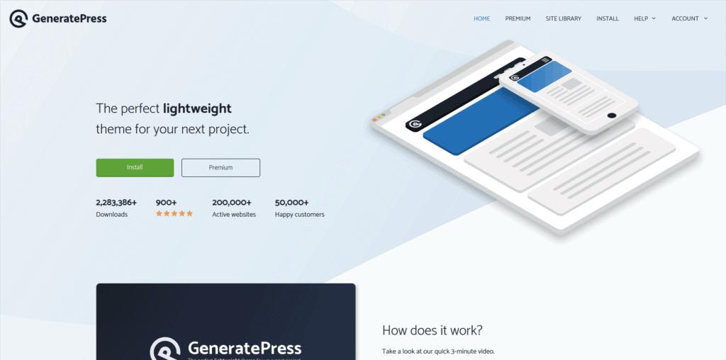 generate press website screenshot
