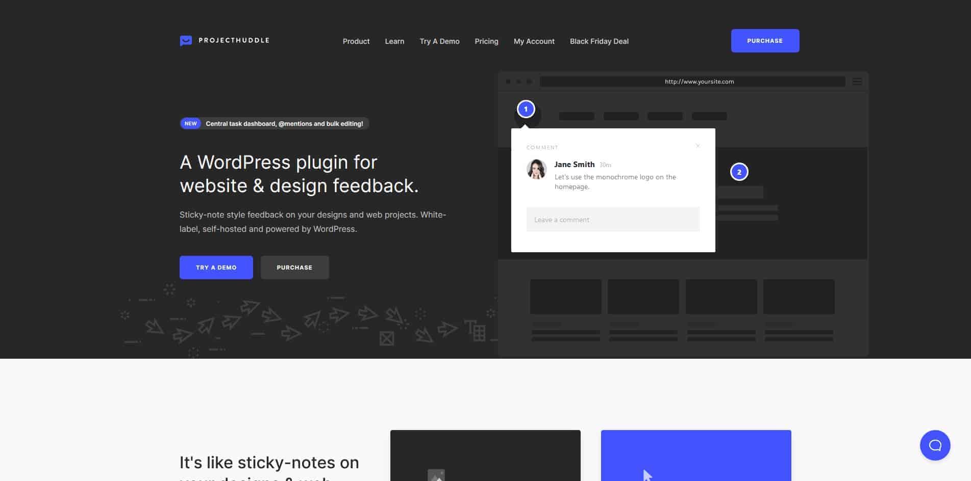 project huddle homepage screenshot