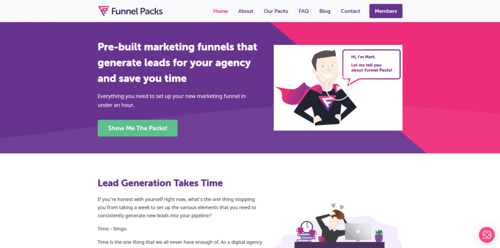 funnel packs endorsment