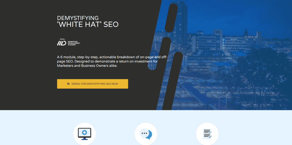 Demystifying 'White Hat' SEO Marketing Development Academy