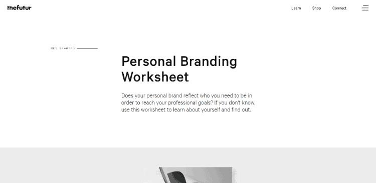 Personal Branding Worksheet The Futur