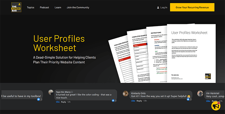 The User Profiles Worksheet