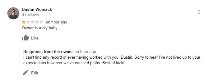 Fraud review screenshot