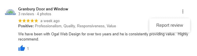 Report review menu item screenshot